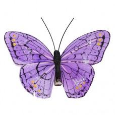 Бабочка с клипсой 9см ТН15004 (фиолетовая)