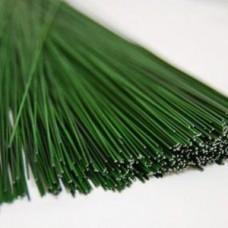 Проволока для флористики 18# (1,4 мм), цв. зеленый, 40 см