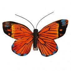 Бабочка с клипсой 9см ТНА15091(оранжевая)