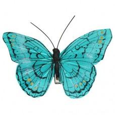 Бабочка с клипсой 9см ТН15004 (голубая)