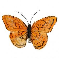 Бабочка с клипсой 9см ТН15004 (оранжевая)