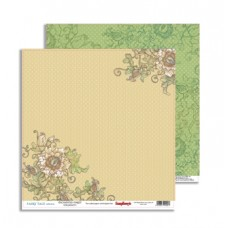 Бумага для скрапбук  двуст. Сказка про Фей Таинственный лес