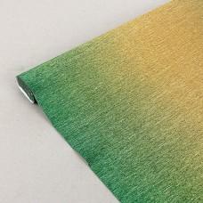 Бумага гофрированная металл-переход, 180 гр, 801/2 зелено-золотая