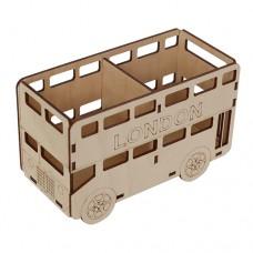 Деревянная заготовка Карандашница двойная london bus