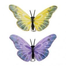 Бабочка с клипсой 7,5см ТН15117 (ассорти)