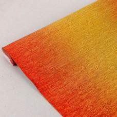 Бумага гофрированная металл-переход, 180 гр, 801/1 красно-золотая