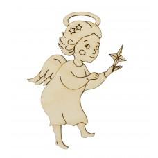 L-1319 Деревянная заготовка Ангелок и звёздочка