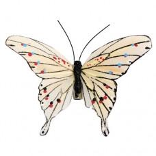 Бабочки кремовые с клипсой TH15029