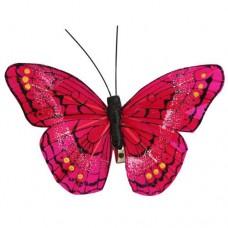 Бабочка с клипсой 9см ТН15004 (фуксия)