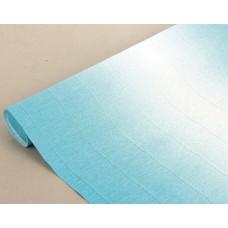 Бумага гофрированная переход, 180 гр, 600/2 бело-голубая
