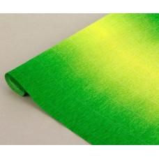 Бумага гофрированная переход, 180 гр, 600/5 желто-зелёная