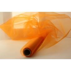Органза-снег в рулоне 47см*1м оранжевый