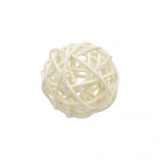 Шарики декоративные плетеные белые 4см
