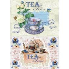 Рисовая карта для декупажа  АМ400261 Чайная музыка