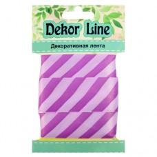 Лента атласная Диагональ, 25мм*3м (фиолетовый)
