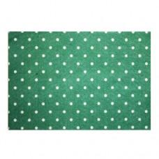 Фетр листовой декоративный Горох, Астра (YF 664 зеленый)