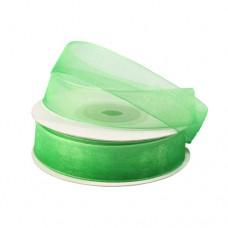 Лента капроновая двухцветная 1,5 см*25 м (001/082 белый/ярко-зеленый) 1м.
