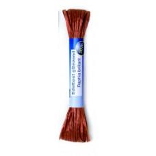 Рафия яркая 20м коричневый (искусственная) Glorex