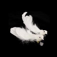Украшение Птички с акриловыми камушками Белые  SCB26003026