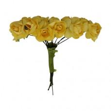 Бутоньерки бумажные, 15 мм, упак./12 шт. (желтый)