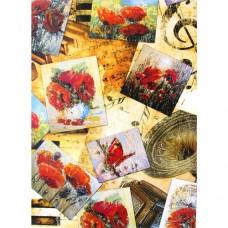 Декупажная карта А4 Freedecor (3085 открытки с маками)