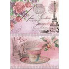 Рисовая карта для декупажа АМ400259 Завтрак в Париже