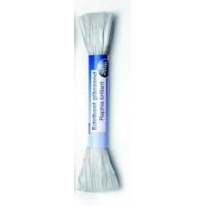 Рафия яркая 20м белый (искусственная) Glorex