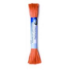 Рафия яркая 20м оранжевый (искусственная) Glorex