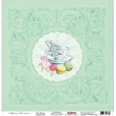 Бумага для скрапбук одностор Сладости Чайная