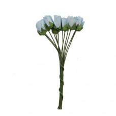 Бутоньерки бумажные Розы, 9,5 см (синий)