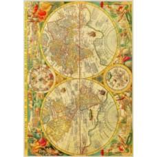 Рисовая карта для декупажа АМ400014 Старинная карта мира №1