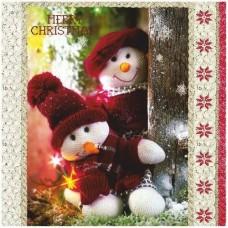 Салфетки Maki 3-х слойные 33x33 Весёлые снеговики