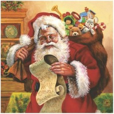 Салфетки Maki 3-х слойные 33x33 Дед Мороз и подарки
