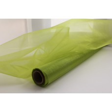 Органза-снег в рулоне 47см*1м салатовый