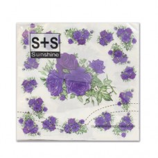 Салфетки  JLC-2PLY (фиолетовые розы)