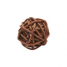 Шарики декоративные плетеные коричневые 2,5 см